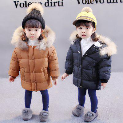 GirlS Hooded Long Sleeve OvercoatGirls Outerwear<br>GirlS Hooded Long Sleeve Overcoat<br><br>Closure Type: Zipper<br>Clothes Type: Padded<br>Collar: Hooded<br>Elasticity: Elastic<br>Embellishment: Pockets<br>Material: Cotton, Cotton Blend<br>Package Contents: 1X Overcoat<br>Pattern Type: Solid<br>Shirt Length: Regular<br>Sleeve Length: Full<br>Style: Leisure<br>Type: Wide-waisted<br>Weight: 0.3000kg