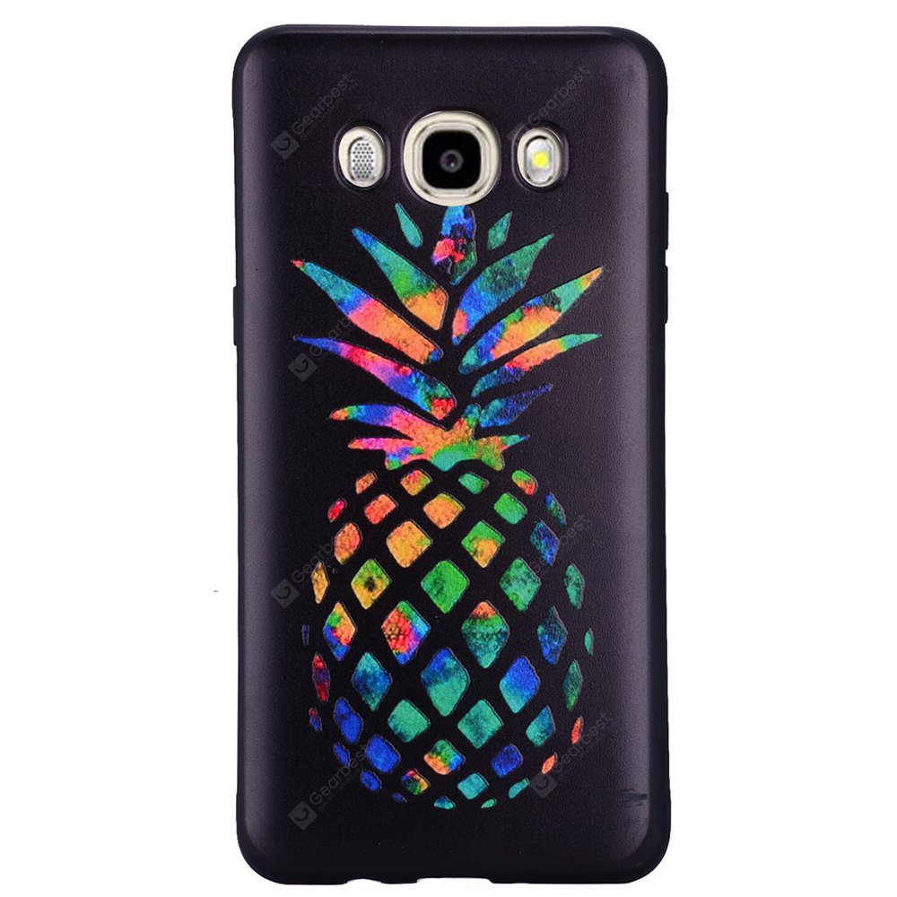 Case For Samsung Galaxy J5 2016 J510 Rainbow Pineapple TPU Mobile Phone Protection Shell