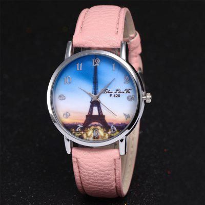 ZhouLianFa New Outdoor High-End Silver Dial Lycra Pattern Paris Tower Quartz WatchWomens Watches<br>ZhouLianFa New Outdoor High-End Silver Dial Lycra Pattern Paris Tower Quartz Watch<br><br>Band material: Leather<br>Band size: 23 x 2cm<br>Brand: ZhouLianFa<br>Case material: Alloy<br>Clasp type: Pin buckle<br>Dial size: 4 x 4 x 1cm<br>Display type: Analog<br>Movement type: Quartz watch<br>Package Contents: 1 x Watch<br>Package size (L x W x H): 12.00 x 8.00 x 9.00 cm / 4.72 x 3.15 x 3.54 inches<br>Package weight: 0.0600 kg<br>Product size (L x W x H): 23.00 x 4.00 x 1.00 cm / 9.06 x 1.57 x 0.39 inches<br>Product weight: 0.0300 kg<br>Shape of the dial: Round<br>Watch mirror: Mineral glass<br>Watch style: Casual, Fashion, Classic, Business, Retro, Lovely, Outdoor Sports, Childlike<br>Watches categories: Women,Female table<br>Water resistance: No