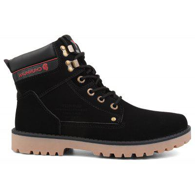 New Men'S High-Color High-Top Martin Boots