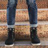 New Men'S High-Color High-Top Martin Boots - BLACK