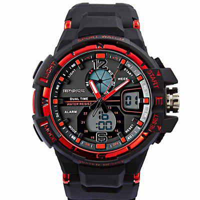 EPOZZ 1703 Dual Display Watch Waterproof 50M Alarm Clock Date Display Men Watch
