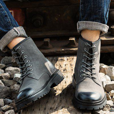 """MenS Fashion Frenulum Martin BootsMens Boots<br>MenS Fashion Frenulum Martin Boots<br><br>Boot Height: Ankle<br>Boot Type: Motorcycle Boots<br>Closure Type: Lace-Up<br>Embellishment: None<br>Gender: For Men<br>Heel Hight: Low(0.75""""-1.5"""")<br>Heel Type: Flat Heel<br>Outsole Material: Rubber<br>Package Contents: 1 x shoes?pair?<br>Pattern Type: Others<br>Season: Winter<br>Toe Shape: Round Toe<br>Upper Material: PU<br>Weight: 2.1000kg"""