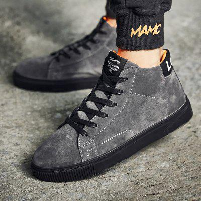 """High Sports Casual Men ShoesCasual Shoes<br>High Sports Casual Men Shoes<br><br>Boot Height: Ankle<br>Boot Type: Riding/Equestrian<br>Closure Type: Lace-Up<br>Embellishment: None<br>Gender: For Men<br>Heel Hight: Flat(0-0.5"""")<br>Heel Type: Flat Heel<br>Outsole Material: Rubber<br>Package Contents: 1 x shoes ?pair?<br>Pattern Type: Others<br>Season: Winter, Spring/Fall<br>Toe Shape: Round Toe<br>Upper Material: PU<br>Weight: 2.3100kg"""