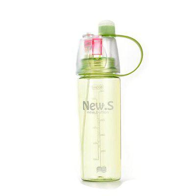 Sport Water Bottle Colored Transparent Portable Bottle With Mist Sprayer