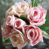 Buy Simulation Rose Flowers Bouquet Lifesome Glorious Home Decorative Artificial PINK CHAMPAGNE