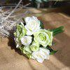 Buy Simulation Rose Flowers Bouquet Lifesome Glorious Home Decorative Artificial LIGHT GREEN
