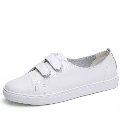 B1702 Velcro Cowhide Leisure Flat Breathable White ShoeB1702 Velcro Cowhide Leisure Flat Breathable White Shoe<br><br>Available Size: 35-40<br>Closure Type: Elastic band<br>Flat Type: Ballet Flats<br>Gender: For Women<br>Occasion: Casual<br>Outsole Material: Rubber<br>Package Contents: 1xshoes pair<br>Package size (L x W x H): 33.00 x 20.00 x 15.00 cm / 12.99 x 7.87 x 5.91 inches<br>Package weight: 0.6000 kg<br>Pattern Type: Others<br>Season: Spring/Fall<br>Toe Shape: Round Toe<br>Toe Style: Closed Toe<br>Upper Material: Cow Split
