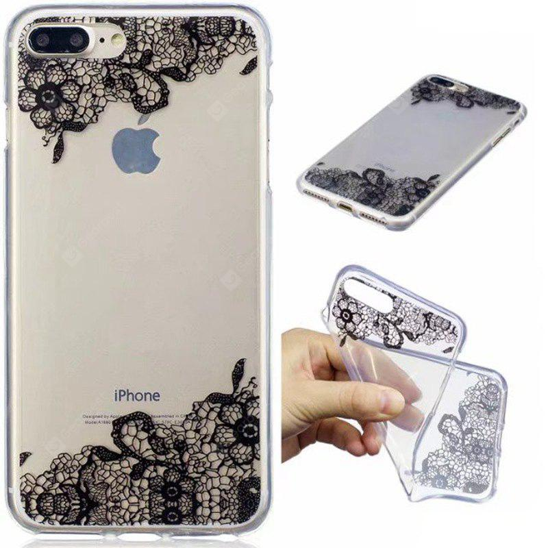 Custodia morbida in TPU con stampa pizzo per iPhone 8 Plus