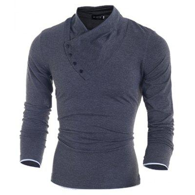 MenS Slant Button Collar Long-Sleeved T-Shirt 7738Mens T-shirts<br>MenS Slant Button Collar Long-Sleeved T-Shirt 7738<br><br>Collar: V-Neck<br>Material: Cotton, Polyester<br>Package Contents: 1x T-Shirt<br>Pattern Type: Solid<br>Sleeve Length: Full<br>Style: Fashion<br>Weight: 0.2900kg