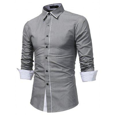 Men S Fashion Stitching Casual Shirt Men S Business Long - Sleeved Large Size Shirt 7679Mens Shirts<br>Men S Fashion Stitching Casual Shirt Men S Business Long - Sleeved Large Size Shirt 7679<br><br>Collar: Turn-down Collar<br>Material: Polyester<br>Package Contents: 1x Shirt<br>Shirts Type: Casual Shirts<br>Sleeve Length: Full<br>Weight: 0.2200kg