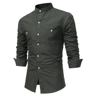 Men S British Collar Long - Sleeved Shirt Fashion Solid Color Slim Plus Size Shirt 7688Mens Shirts<br>Men S British Collar Long - Sleeved Shirt Fashion Solid Color Slim Plus Size Shirt 7688<br><br>Collar: Mandarin Collar<br>Material: Polyester<br>Package Contents: 1x Shirt<br>Shirts Type: Casual Shirts<br>Sleeve Length: Full<br>Weight: 0.2200kg