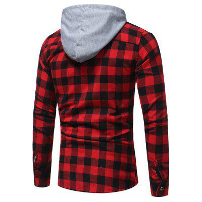 Fashion Plaid Hooded Long Sleeve Cotton ShirtMens Shirts<br>Fashion Plaid Hooded Long Sleeve Cotton Shirt<br><br>Collar: Hooded<br>Material: Cotton, Polyester<br>Package Contents: 1x Shirt<br>Shirts Type: Casual Shirts<br>Sleeve Length: Full<br>Weight: 0.3800kg