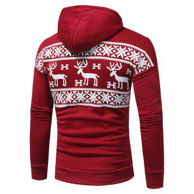 Fashion Deer Printing Casual Hooded SweaterMens Hoodies &amp; Sweatshirts<br>Fashion Deer Printing Casual Hooded Sweater<br><br>Material: Cotton, Polyester<br>Package Contents: 1x sweater<br>Shirt Length: Regular<br>Sleeve Length: Full<br>Style: Fashion<br>Weight: 0.4800kg