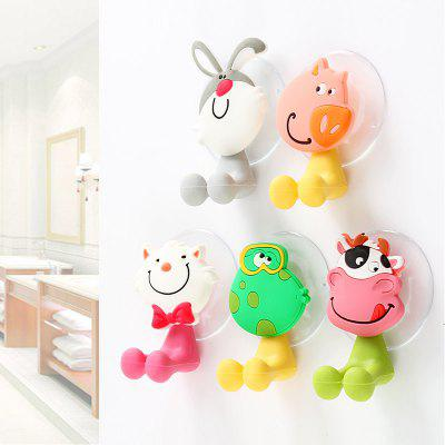 5 Pcs Toothbrush Holders for Toothbrushes Toothpaste Dispenser Bathroom Accessories Tooth Brush Holder Wall Suction Cups