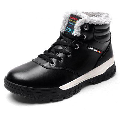 """MenS Fashion Bullock High Shoes Big Size Shoes Cotton Shoes Snow BootsMens Boots<br>MenS Fashion Bullock High Shoes Big Size Shoes Cotton Shoes Snow Boots<br><br>Boot Height: Ankle<br>Boot Type: Snow Boots<br>Closure Type: Lace-Up<br>Embellishment: None<br>Gender: For Men<br>Heel Hight: Flat(0-0.5"""")<br>Heel Type: Low Heel<br>Outsole Material: Rubber<br>Package Contents: 1 x Shoes Pair<br>Pattern Type: Others<br>Season: Winter<br>Shoe Width: Wide(C/D/W)<br>Toe Shape: Round Toe<br>Upper Material: PU<br>Weight: 1.2000kg"""