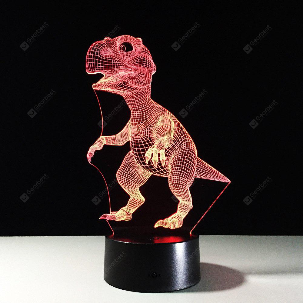YEDUO 3D Illusion Dinosaur 7 Color Led Bulb Animal Night Light Touch Table Lamp