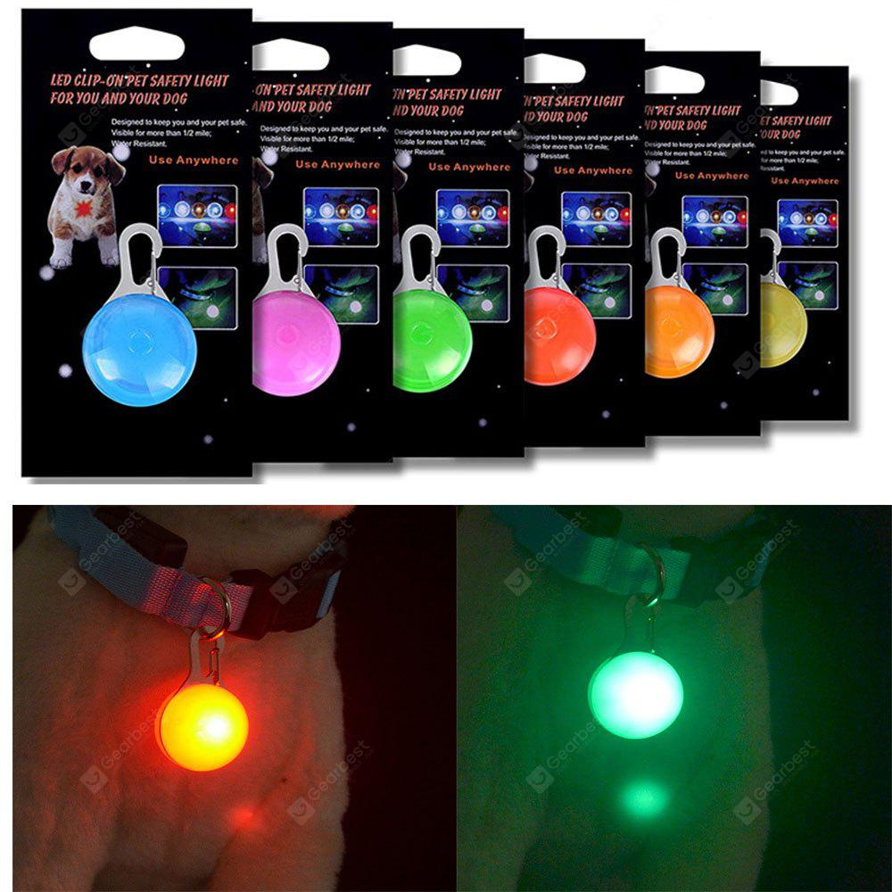 KWB Dog Cat Pet Collar Light 6Pcs Impermeabile LED Dog Collar Safety Night Walking Lights portachiavi