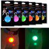 KWB Dog Cat Pet Collar Light 6Pcs Impermeabile LED Dog Collar Safety Night Walking Lights portachiavi - COLORATO