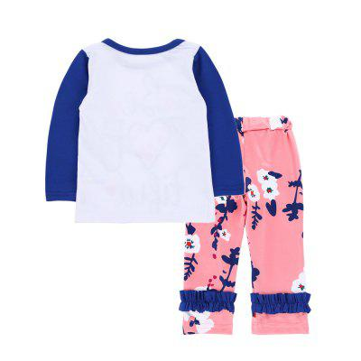 SOSOCOER Baby Girls Clothes Set Long Sleeved T-Shirt Letters Floral Lace Pants two Piecebaby clothing sets<br>SOSOCOER Baby Girls Clothes Set Long Sleeved T-Shirt Letters Floral Lace Pants two Piece<br><br>Brand: SOSOCOER<br>Closure Type: Pullover<br>Collar: Round Neck<br>Color: Pink,White,Blue<br>Decoration: Pattern<br>Gender: Girl<br>Material: Cotton<br>Package Contents: 1 x T-shirt, 1 x Pair of Pants<br>Pattern Style: Floral<br>Season: Spring<br>Sleeve Length: Full<br>Sleeve Style: Regular<br>Style: Personality<br>Thickness: General<br>Weight: 0.1700kg