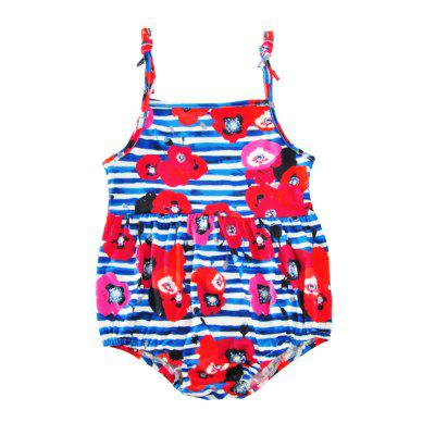 SOSOCOER Newborn Infant Bodysuits Girl Striped Flower Printing Sling Romper and Hair Band Two Piece Setbaby clothing sets<br>SOSOCOER Newborn Infant Bodysuits Girl Striped Flower Printing Sling Romper and Hair Band Two Piece Set<br><br>Brand: SOSOCOER<br>Closure Type: Pullover<br>Collar: Square Neck<br>Gender: Girl<br>Material: Cotton<br>Package Contents: 1 x Hair Band, 1 x Romper<br>Pattern Style: Floral<br>Season: Summer<br>Sleeve Length: Sleeveless<br>Sleeve Style: Tank<br>Style: The Princess<br>Thickness: General<br>Weight: 0.1000kg