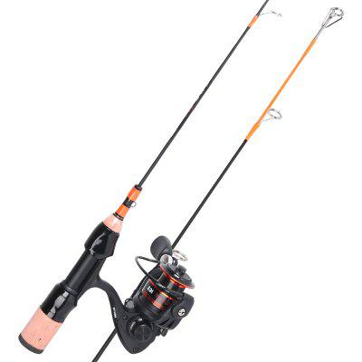 HONOREAL Klash Light Portable Travel Spinning Ice Fishing Rod Reel Combo