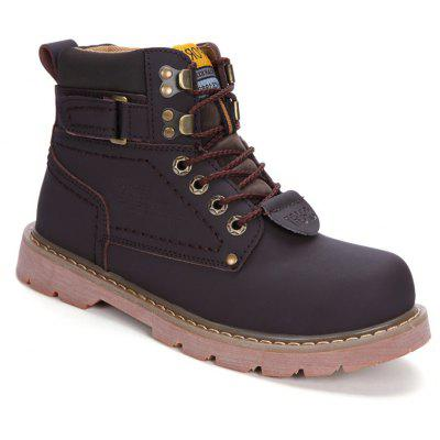 Men Casual Trend for Fashion Outdoor Hiking Flat Climbing Ankle Leather  Boots