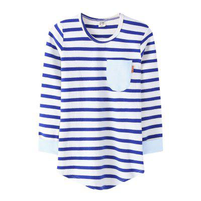 Winter Kids Girls Boys Long Sleeves Stripe Elastic Bottoming T-shirtGirls tops &amp; T-shirts<br>Winter Kids Girls Boys Long Sleeves Stripe Elastic Bottoming T-shirt<br><br>Collar: Round Neck<br>Elasticity: Micro-elastic<br>Gender: Unisex<br>Material: Cotton<br>Package Contents: 1 x Tops<br>Pattern Type: Striped<br>Season: Fall, Winter, Spring<br>Shirt Length: Long<br>Sleeve Length: Full<br>Style: Casual<br>Weight: 0.3750kg