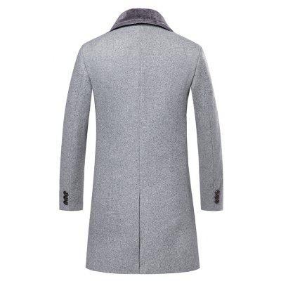 Mens Trench Coat Turn Down Collar Thickened Solid Color Button Opening Slim CoatMens Jackets &amp; Coats<br>Mens Trench Coat Turn Down Collar Thickened Solid Color Button Opening Slim Coat<br><br>Closure Type: Single Breasted<br>Clothes Type: Trench<br>Collar: Turn-down Collar<br>Color Style: Solid<br>Colors: Black,Gray,Army green,Cadetblue<br>Detachable Part: None<br>Fabric Type: Cotton<br>Hooded: No<br>Lining Material: Polyester<br>Materials: Cotton<br>Package Content: 1 ? Coat<br>Package size (L x W x H): 1.00 x 1.00 x 1.00 cm / 0.39 x 0.39 x 0.39 inches<br>Package weight: 0.6000 kg<br>Pattern Type: Solid<br>Shirt Length: Regular<br>Size1: M,L,XL,2XL,3XL<br>Sleeve Style: Regular<br>Style: Fashion<br>Technics: Other<br>Thickness: Medium thickness<br>Type: Slim