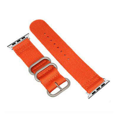 Buy 42mm Woven Nylon for iWatch Series 3/2/1 Band Replacement Strap With silver Adapters ORANGE for $9.89 in GearBest store