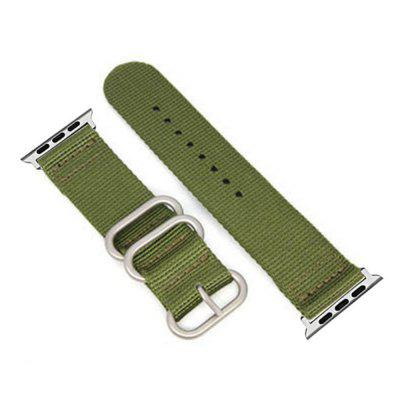 Buy 42mm Woven Nylon for iWatch Series 3/2/1 Band Replacement Strap With silver Adapters GREEN for $9.89 in GearBest store