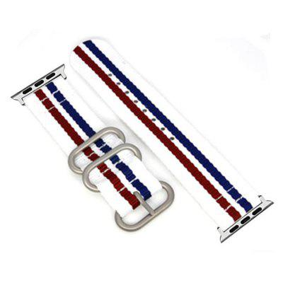 Buy 42mm Woven Nylon for iWatch Series 3/2/1 Band Replacement Strap With silver Adapters WHITE + RED for $9.89 in GearBest store