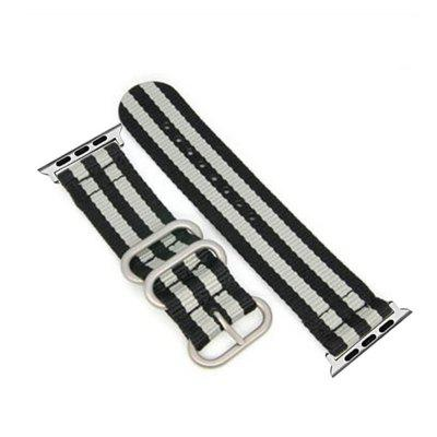 38mm Woven Nylon for iWatch Series 3/2/1 Band Replacement Strap With silver Adapters