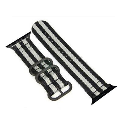 42mm Woven Nylon for iWatch Series 3/2/1 Band Replacement Strap With Black Adapters