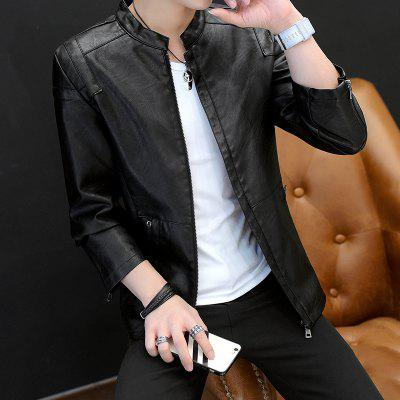 Slim Warm Fashion Leather JacketMens Jackets &amp; Coats<br>Slim Warm Fashion Leather Jacket<br><br>Clothes Type: Leather &amp; Suede<br>Collar: Stand Collar<br>Material: Faux Leather<br>Package Contents: 1 x Jacket<br>Season: Spring, Fall, Winter<br>Shirt Length: Regular<br>Sleeve Length: Long Sleeves<br>Style: Casual<br>Weight: 1.0500kg