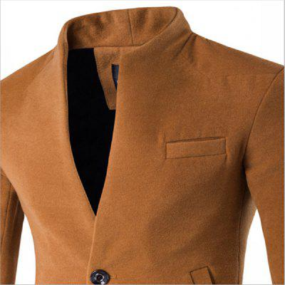 Autumn and Winter New Woolen Coat Fashion MenS Long Self-Cultivation Cardigan Jacket 1204-F102Mens Blazers<br>Autumn and Winter New Woolen Coat Fashion MenS Long Self-Cultivation Cardigan Jacket 1204-F102<br><br>Closure Type: Single Button<br>Clothing Length: Long<br>Embellishment: Button<br>Hooded: No<br>Material: Cashmere<br>Package Contents: 1?Coat<br>Package size (L x W x H): 1.00 x 1.00 x 1.00 cm / 0.39 x 0.39 x 0.39 inches<br>Package weight: 0.8300 kg<br>Pattern Type: Solid<br>Product size (L x W x H): 1.00 x 1.00 x 1.00 cm / 0.39 x 0.39 x 0.39 inches