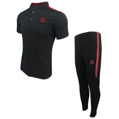 MenS Spring and Summer Fashion Casual Sports and Fitness Collar POLO Shirt Short-Sleeved Trousers Two-Piece SuitSports Clothing<br>MenS Spring and Summer Fashion Casual Sports and Fitness Collar POLO Shirt Short-Sleeved Trousers Two-Piece Suit<br><br>Elasticity: Elastic<br>Material: Cotton<br>Package Contents: 1XT-shirt 1x Pants<br>Pattern Type: Solid<br>Weight: 0.4000kg