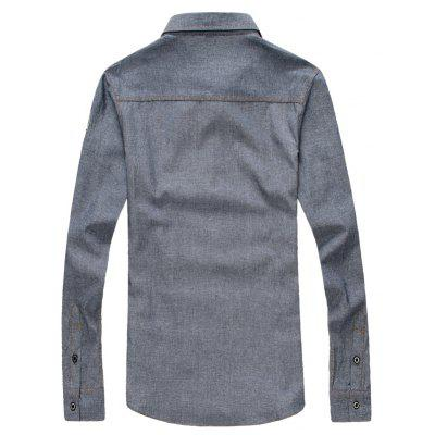Casual Male Cowboy Shirt Long Sleeved ShirtMens Shirts<br>Casual Male Cowboy Shirt Long Sleeved Shirt<br><br>Collar: Turn-down Collar<br>Fabric Type: Broadcloth<br>Material: Cotton, Polyester<br>Package Contents: 1 X shirt<br>Shirts Type: Casual Shirts<br>Sleeve Length: Full<br>Weight: 0.3000kg
