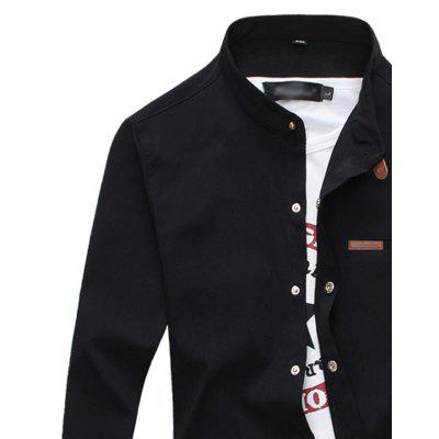 Fashion Collar Button Color All-Match Mens Long Sleeve ShirtMens Shirts<br>Fashion Collar Button Color All-Match Mens Long Sleeve Shirt<br><br>Collar: Mandarin Collar<br>Fabric Type: Broadcloth<br>Material: Cotton, Polyester<br>Package Contents: 1 X Shirt<br>Shirts Type: Casual Shirts<br>Sleeve Length: Full<br>Weight: 0.3000kg
