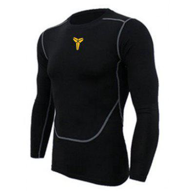 Tight Fitness Long-Sleeved Shirt Basketball Clothes