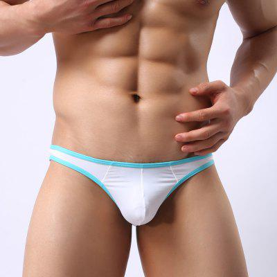 MenS Sexy Underwear Trend MenS ThongsMens Underwear &amp; Pajamas<br>MenS Sexy Underwear Trend MenS Thongs<br><br>Feature: Breathable<br>Item Type: Low Waist Underwear<br>Material: Spandex<br>Package Contents: 1 x Briefs<br>Package size (L x W x H): 1.00 x 1.00 x 1.00 cm / 0.39 x 0.39 x 0.39 inches<br>Package weight: 0.0300 kg<br>Waist Type: Low