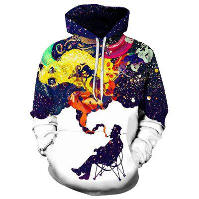 Trendy   3D  Hoodie  Print   CapsMens Hoodies &amp; Sweatshirts<br>Trendy   3D  Hoodie  Print   Caps<br><br>Material: Polyester<br>Package Contents: 1xhoodie<br>Shirt Length: Regular<br>Sleeve Length: Full<br>Style: Casual<br>Weight: 0.2000kg