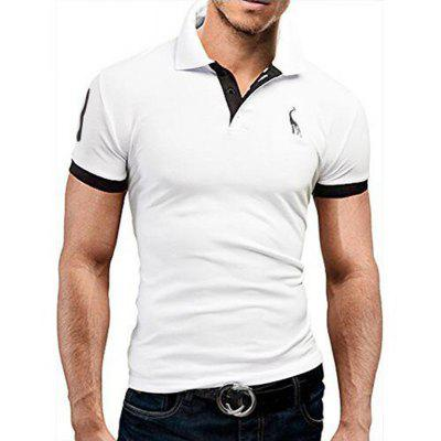 Men's Daily Plus Size Casual Summer Solid Shirt Collar Short Sleeves Cotton Medium Polo