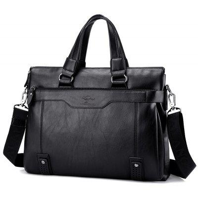 Buy BLACK HORIZONTAL Men's business bag large capacity shoulder Messenger bag for $29.19 in GearBest store