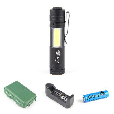 UltraFire MINI-COB 250 Lumens XPE 4-Way Clip Flashlight Waterproof Case Set
