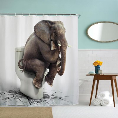 Elephant Thinker Polyester Shower Curtain Bathroom Curtain High Definition 3D Printing Water-ProofShower Curtain<br>Elephant Thinker Polyester Shower Curtain Bathroom Curtain High Definition 3D Printing Water-Proof<br><br>Package size (L x W x H): 26.00 x 18.00 x 3.00 cm / 10.24 x 7.09 x 1.18 inches<br>Package weight: 0.4500 kg