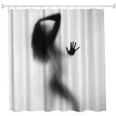 The Sexy Shadow Polyester Shower Curtain Bathroom High Definition 3D Printing Water Proof