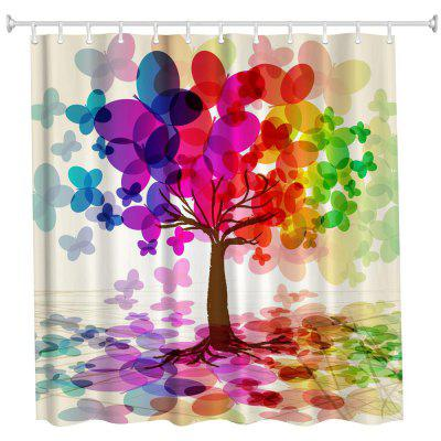 colorful tree polyester shower curtain bathroom curtain high definition 3d printing water proof - Colorful Shower Curtains