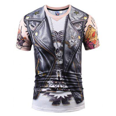 3D Digital Printing Round Collar T-Shirt