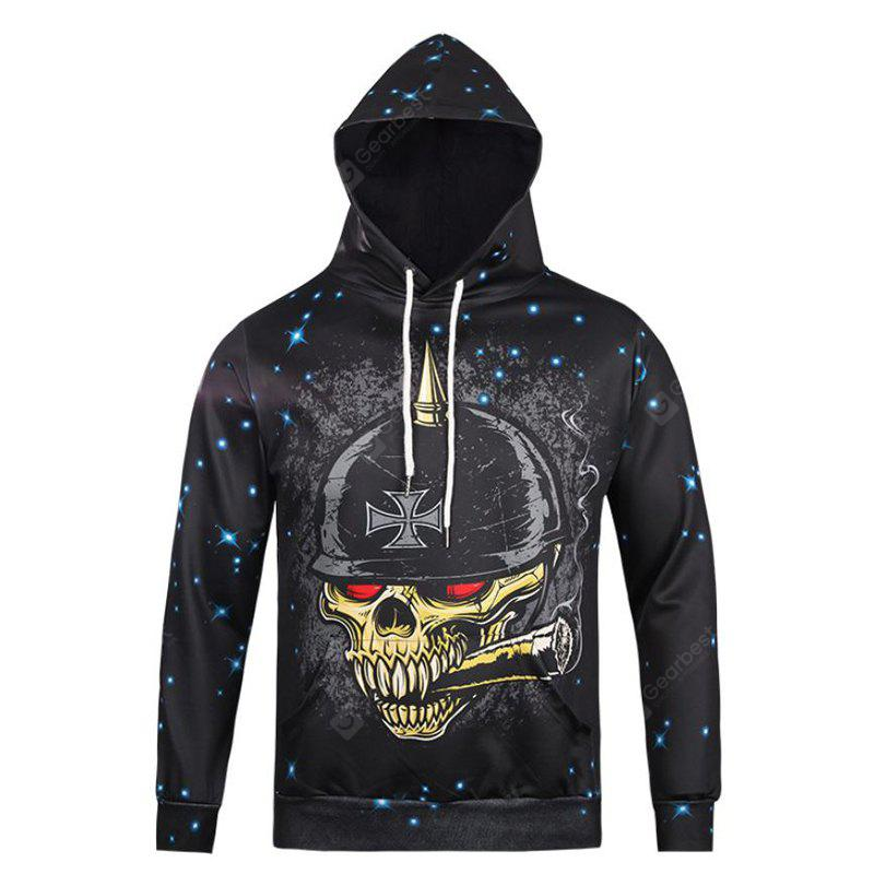Street Style Hot Style Character and Creative Star Skull Head 3D Printed Hoodie